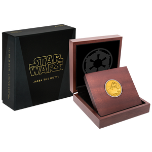 Star Wars Classic: Jabba the Hutt™ 1oz Gold Coin Packaging
