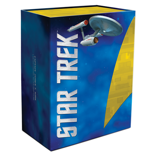 Star Trek - Captain James T. Kirk 150g Silver Miniature Closed Box