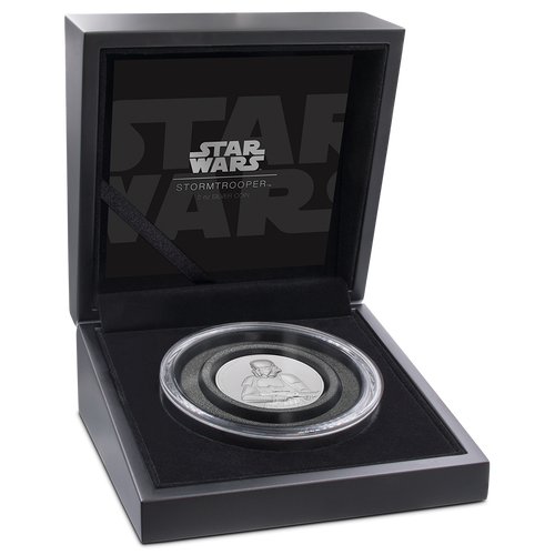 Star Wars: Stormtrooper™ Ultra High Relief 2oz Silver Coin Display