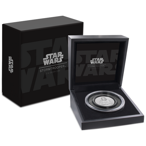 Star Wars: Stormtrooper™ Ultra High Relief 2oz Silver Coin Packaging