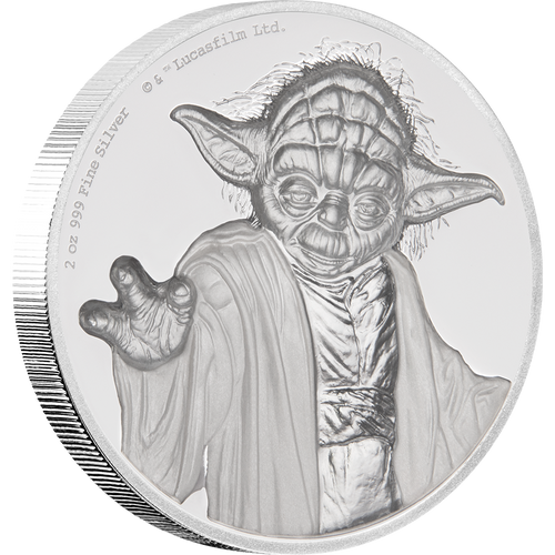 Star Wars: Yoda™ Ultra High Relief 2oz Silver Coin