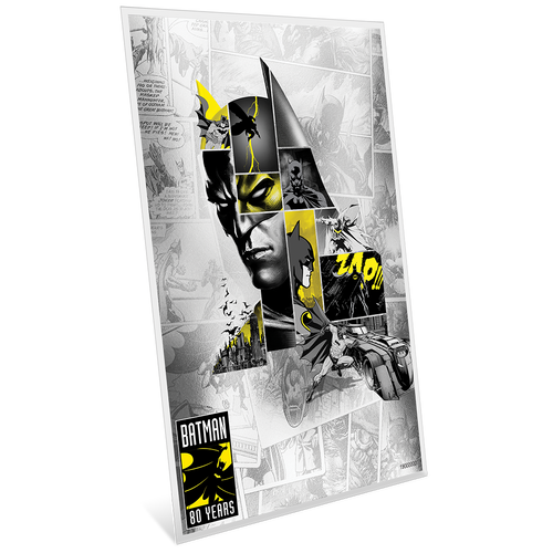 BATMAN™'s 80th Anniversary 5g Silver Coin Note Side