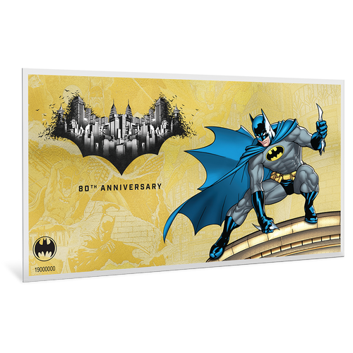 BATMAN's™ 80th Anniversary - 1g Gold Coin Note