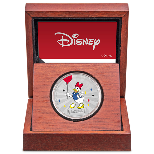 Mickey Mouse & Friends Carnival - Daisy Duck 1oz Silver Coin Display