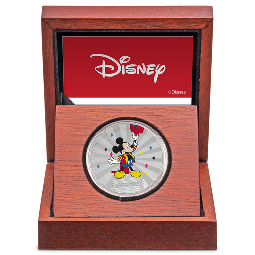 Mickey Mouse & Friends Carnival - Mickey Mouse 1oz Silver Coin Display