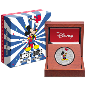 Mickey Mouse & Friends Carnival - Mickey Mouse 1oz Silver Coin Packaging