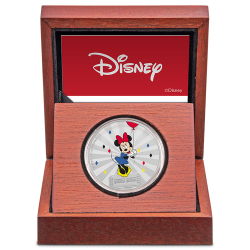 Mickey Mouse & Friends Carnival - Minnie Mouse 1oz Silver Coin Display