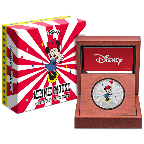 Mickey Mouse & Friends Carnival - Minnie Mouse 1oz Silver Coin Packaging