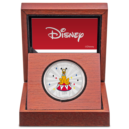 Mickey Mouse & Friends Carnival - Pluto 1oz Silver Coin Display