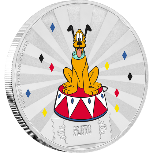 Mickey Mouse & Friends Carnival - Pluto 1oz Silver Coin