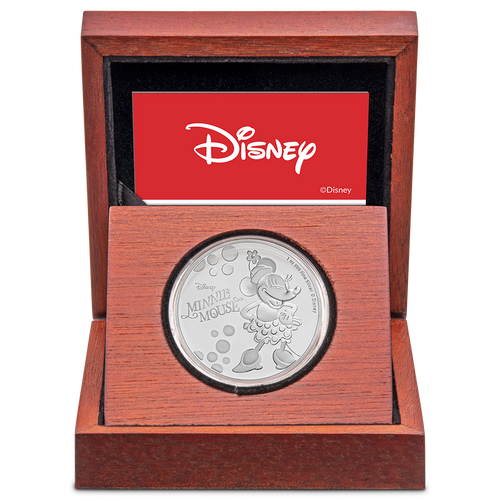Disney: Minnie Mouse - 1oz Silver Coin Display