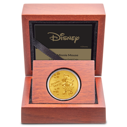 Disney: Minnie Mouse - 1/4 oz Gold Coin Display