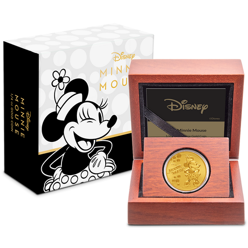 Disney: Minnie Mouse - 1/4 oz Gold Coin Packaging