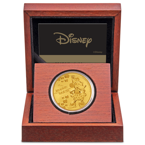 Disney: Minnie Mouse - 1oz Gold Coin Display