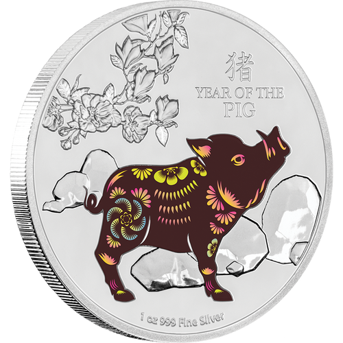 Lunar - Year of the Pig 2019 1oz Silver Coin