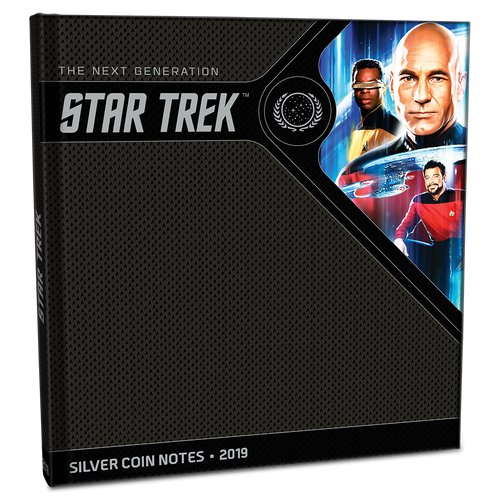 Star Trek: The Next Generation - Jean-Luc Picard 5g Pure Silver Coin Note PLUS Collector's Album closed