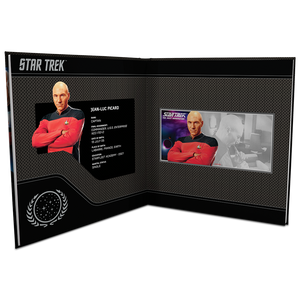 Star Trek: The Next Generation - Jean-Luc Picard 5g Pure Silver Coin Note PLUS Collector's Album