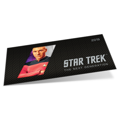Star Trek: The Next Generation - Jean-Luc Picard 5g Pure Silver Coin Note PLUS Collector's Album Sleeve