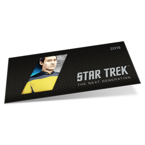 Star Trek: The Next Generation - Data 5g Pure Silver Coin Note Sleeve
