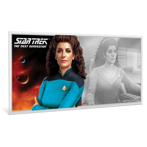 Star Trek: The Next Generation - Deanna Troi 5g Pure Silver Coin Note