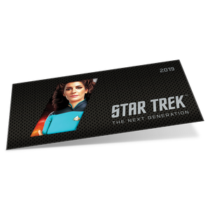 Star Trek: The Next Generation - Deanna Troi 5g Pure Silver Coin Note Sleeve