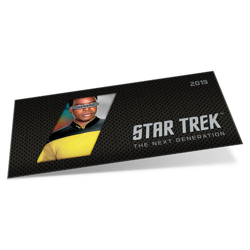 Star Trek: The Next Generation - Geordi La Forge 5g Pure Silver Coin Note Sleeve