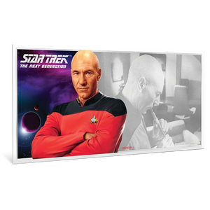 Star Trek: The Next Generation - Jean-Luc Picard 5g Pure Silver Coin Note