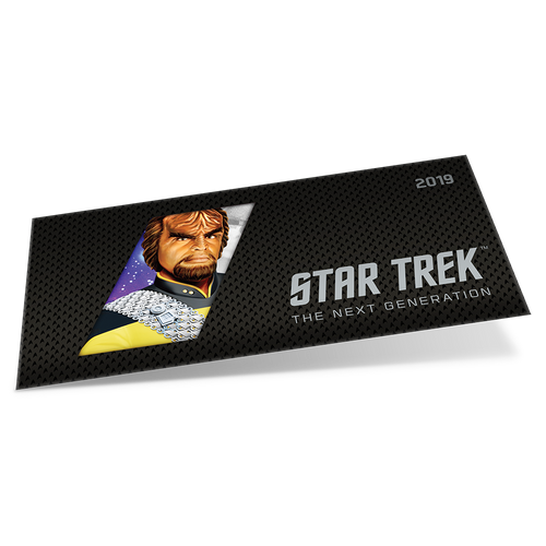 Star Trek: The Next Generation - Worf - 5g Silver Coin Note Sleeve