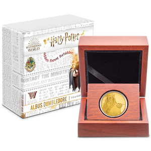 Albus Dumbledore ¼oz Gold Coin in Display Packaging