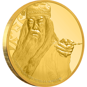 HARRY POTTER Albus Dumbledore ¼oz Gold Coin NZ MInt