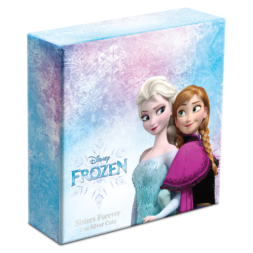Disney Frozen – Sisters Forever 1oz Silver Coin Box