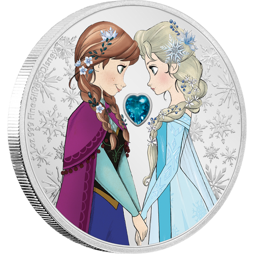 Disney Frozen – Sisters Forever 1oz Silver Coin NZ Mint