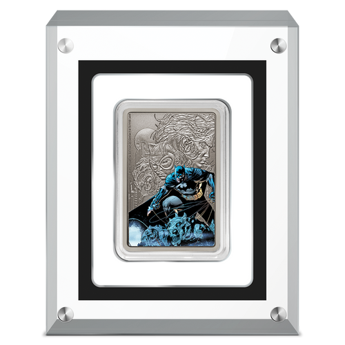 THE CAPED CRUSADER™ - BATMAN™ 1oz Silver Coin in Perspex