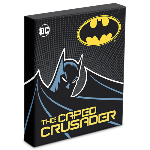 THE CAPED CRUSADER™ - BATMAN™ 1oz Silver Coin Box