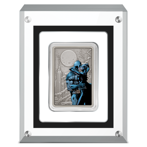 THE CAPED CRUSADER™ - The Kiss 1oz Silver Coin Perspex Packaging
