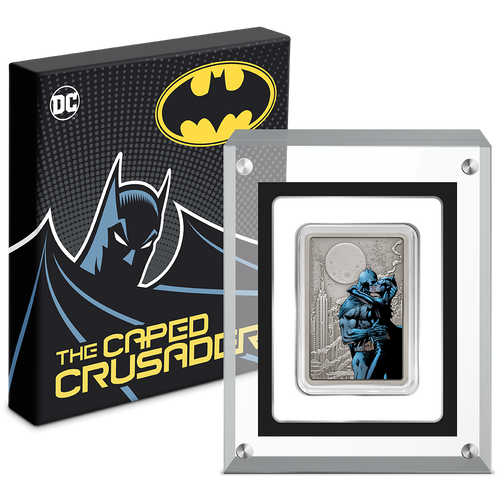 THE CAPED CRUSADER™ - The Kiss 1oz Silver Coin Display Box
