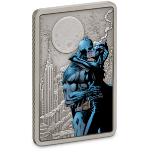 THE CAPED CRUSADER™ - The Kiss 1oz Silver Coin Front | NZ Mint