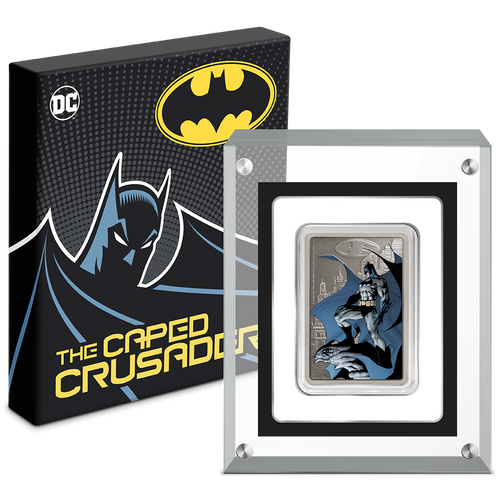 THE CAPED CRUSADER™ - GOTHAM CITY™ 1oz Silver Coin Packaging