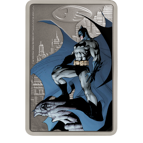 THE CAPED CRUSADER™ - GOTHAM CITY™ 1oz Silver Coin Base
