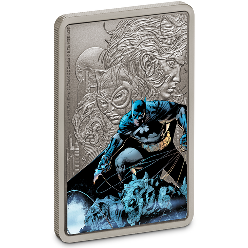 THE CAPED CRUSADER™ - BATMAN™ 1oz Silver Coin Front View