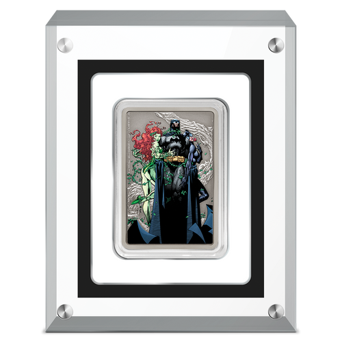 THE CAPED CRUSADER™ - VIXENS 1oz Silver Coin Display