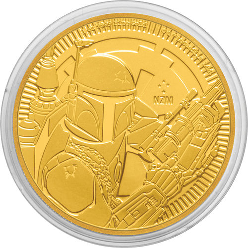 1oz Gold Bullion Coin Star Wars Boba Fett™ 2020 in capsule packaging