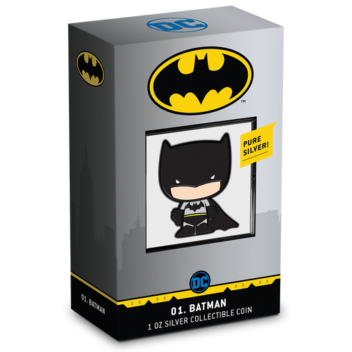 SOLD OUT! Chibi Coin Collection DC Comics Series – BATMAN™ 1oz Silver Coin Packaging