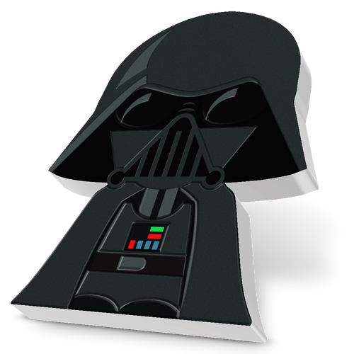 SOLD OUT! Chibi Coin Collection Star Wars™ Series – Darth Vader™ 1oz Silver Coin Angled