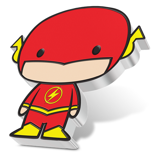 SOLD OUT! Chibi Coin Collection DC Comics Series – THE FLASH 1oz Silver Coin Angled