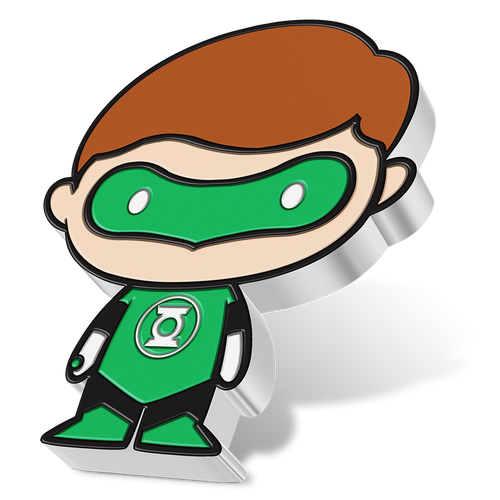 SOLD OUT! Chibi™ Coin Collection DC Comics Series – GREEN LANTERN™ 1oz Silver Coin Angled