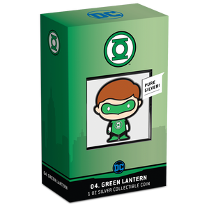 SOLD OUT! Chibi™ Coin Collection DC Comics Series – GREEN LANTERN™ 1oz Silver Coin Packaging & Certificate of Authenticity