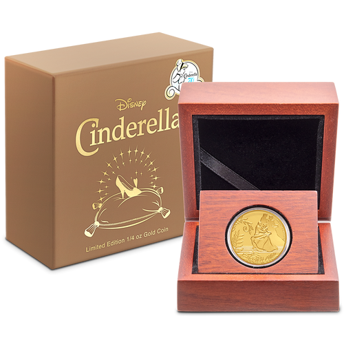 Cinderella 70th Anniversary 1/4oz Gold Coin