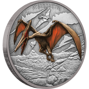 Dinosaurs – Pterodactyl 1oz Silver Coin | NZ Mint