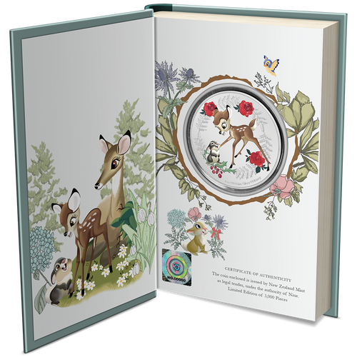 Disney Season's Greetings 2020 1oz Silver Coin Packaging Booket and Certificate of Authenticity